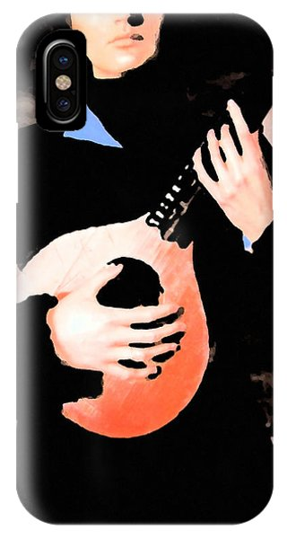 IPhone Case featuring the painting Women With Her Guitar by Colette V Hera  Guggenheim