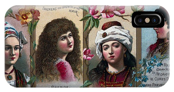 Womens Hair Tonic Ad - 1850 IPhone Case
