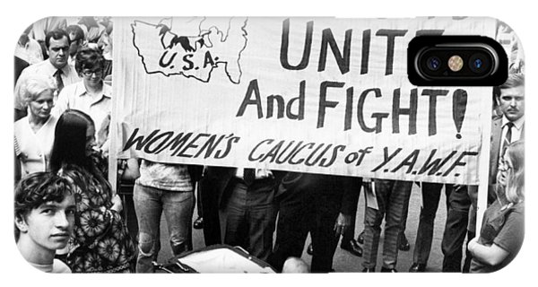 Equal Rights iPhone Case - Women's Liberation Gathering by Underwood Archives
