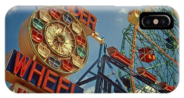 Attraction iPhone Case - Wonder Wheel - Coney Island by Carrie Zahniser