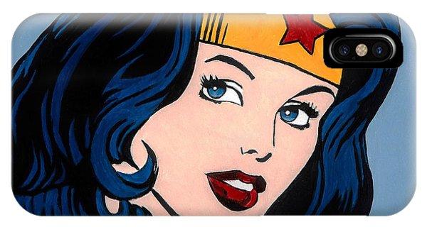 Superhero iPhone Case - Wonder Woman by Brian Broadway