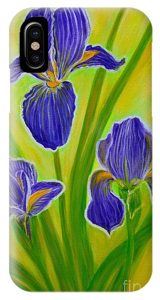 Wonderful Iris Flowers 3 IPhone Case