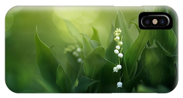 Lily iPhone Case - Wonders Of Spring Forest by Magda  Bognar