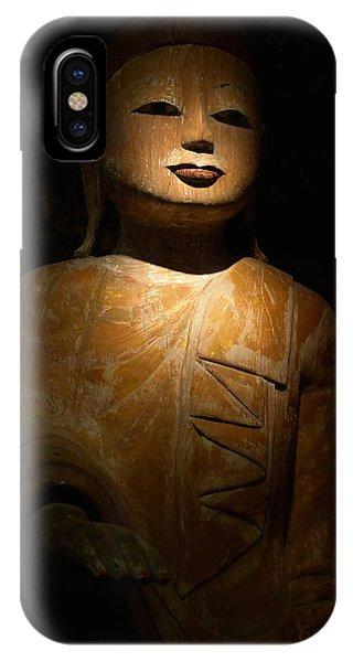 Wood Buddha Statue IPhone Case