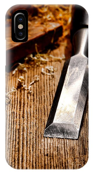 Woodworking iPhone Case - Wood Chisel by Olivier Le Queinec