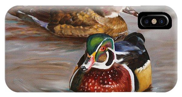 iPhone Case - Wood Duck Duo by Karen Langley