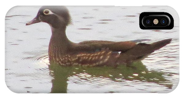 Wood Duck Visits The Pond Phone Case by Diane Mitchell