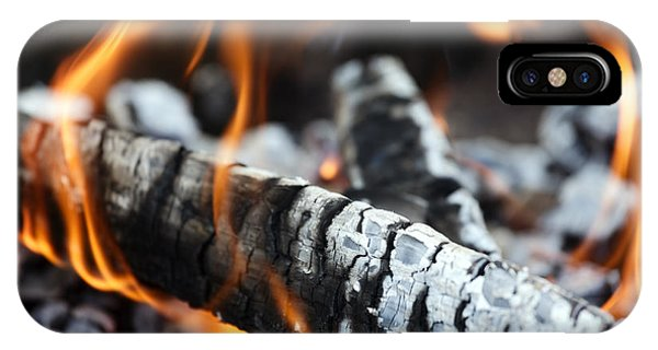 Wood Fire Phone Case by Rostislav Bychkov