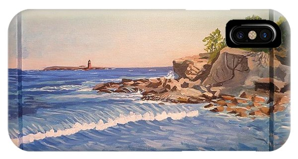 Wood Island Lighthouse In Biddeford Pool IPhone Case