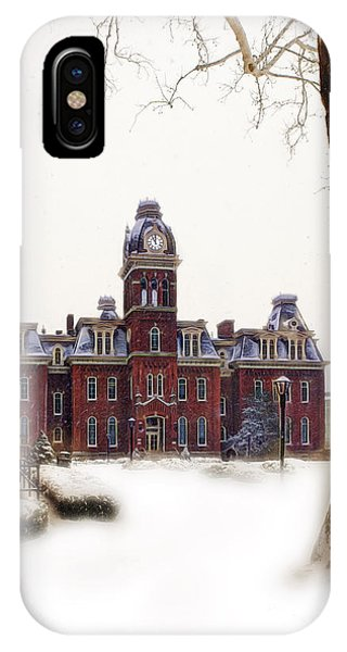 IPhone Case featuring the photograph Woodburn Blowing Snow by Dan Friend