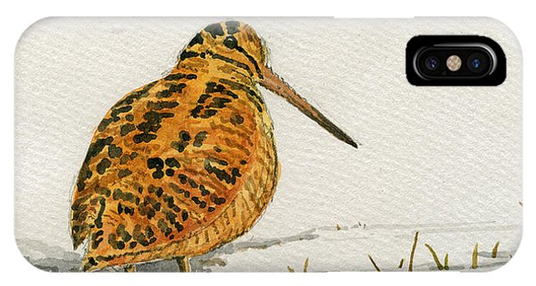 Woodcock iPhone Case - Woodcock Bird by Juan  Bosco