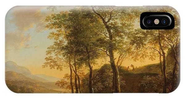 Wooded Hillside With A Vista IPhone Case
