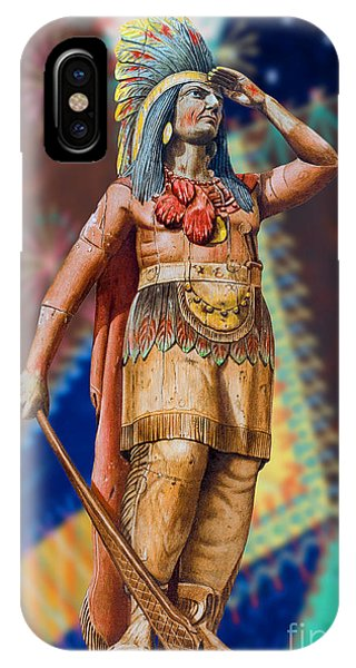 Wooden American Indian IPhone Case