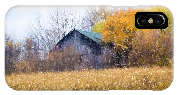 Wooden Autumn Barn IPhone Case