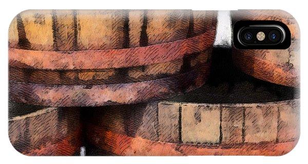 Wooden Barrels IPhone Case