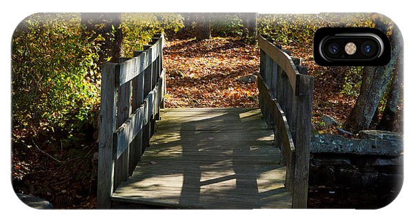Wooden Bridge - Ledyard Sawmill IPhone Case