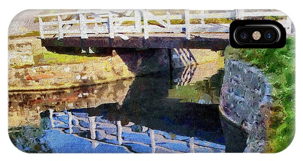 IPhone Case featuring the digital art Wooden Bridge by Paul Gulliver