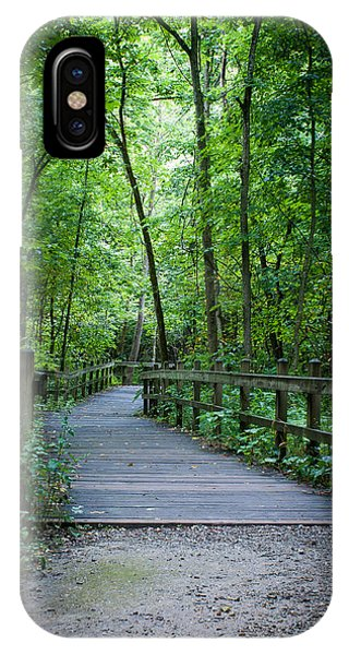 Wooden Bridge IPhone Case