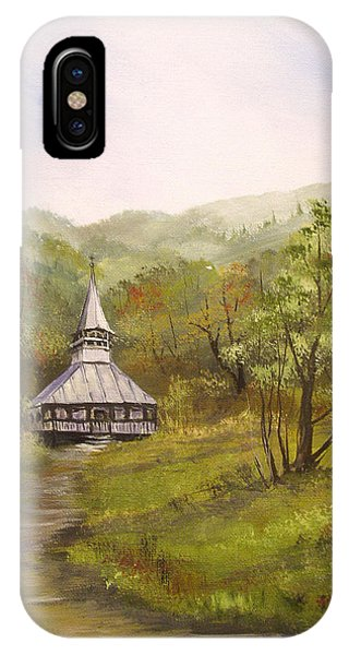 Wooden Church In Transylvania IPhone Case