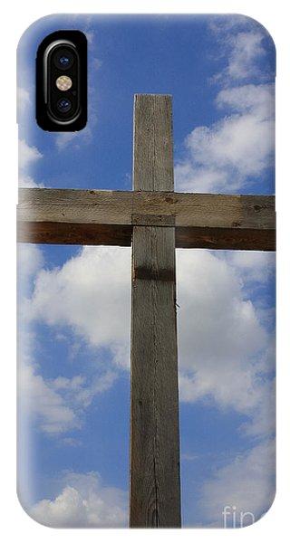 Wooden Cross IPhone Case