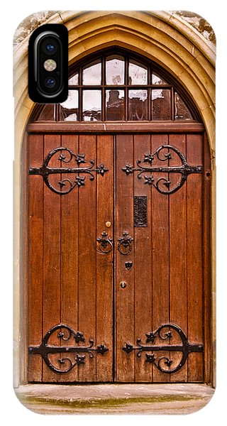 Wooden Door At Tower Hill IPhone Case