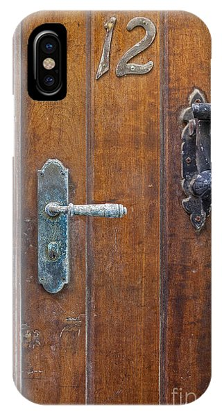 IPhone Case featuring the photograph Wooden Door In Old San Juan by Bryan Mullennix
