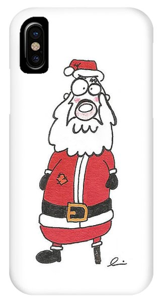 Wooden Leg Santa IPhone Case