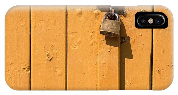 Wooden Plank Door Steel Lock IPhone Case