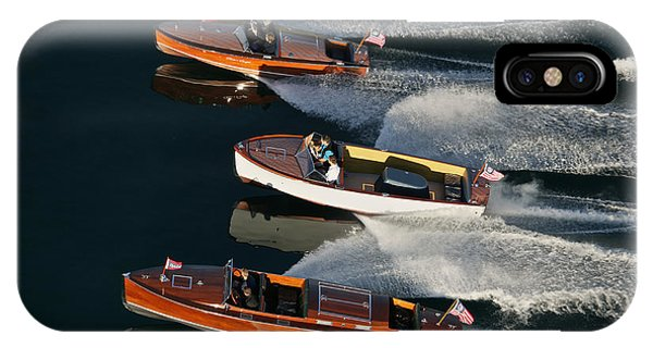 Wooden Runabouts On Lake Tahoe IPhone Case
