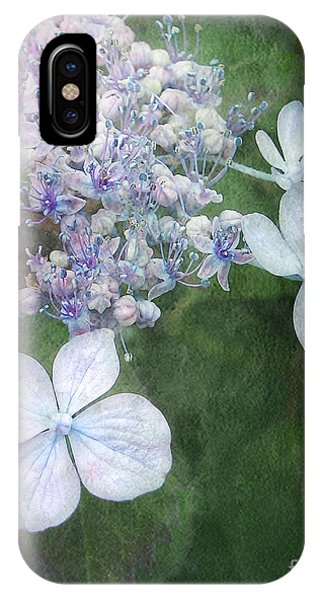 Woodland Hydrangea In Blue IPhone Case