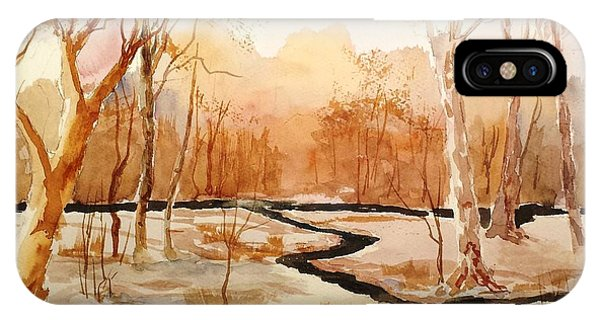 Woods By The Reservoir IPhone Case