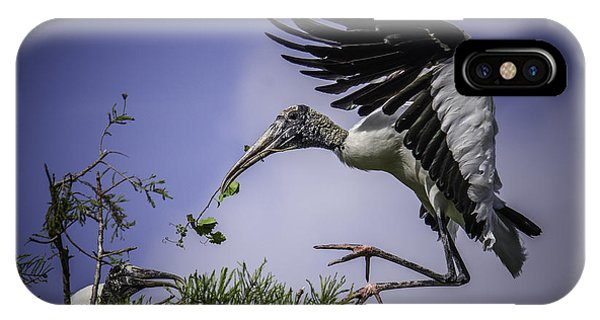 Woodstork Delicate Landing IPhone Case