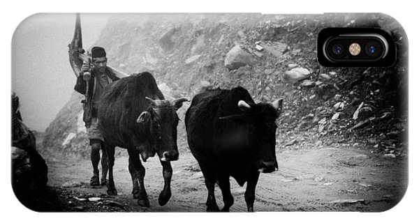Work Hard Tamang People Langtang Nepal IPhone Case