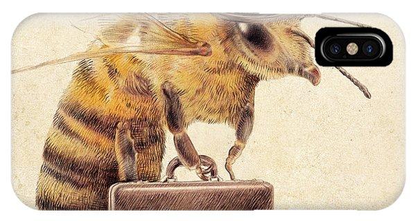 Business iPhone Case - Worker Bee by Eric Fan