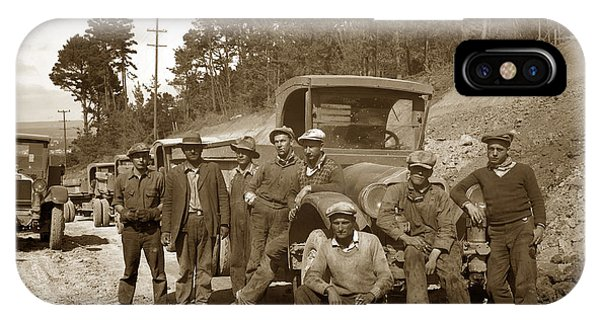 Workers On Highway One Monterey Carmel Hill California 1929 IPhone Case