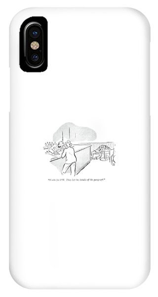 Pub iPhone Case - Works For Pm. They Left His Initials by Carl Rose