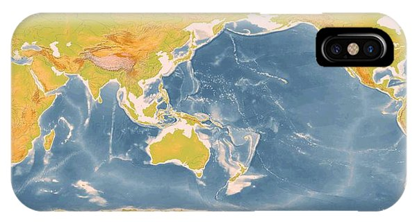 World Geographic Map Enhanced Phone Case by L Brown