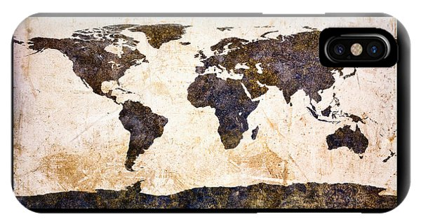 World Map Abstract IPhone Case