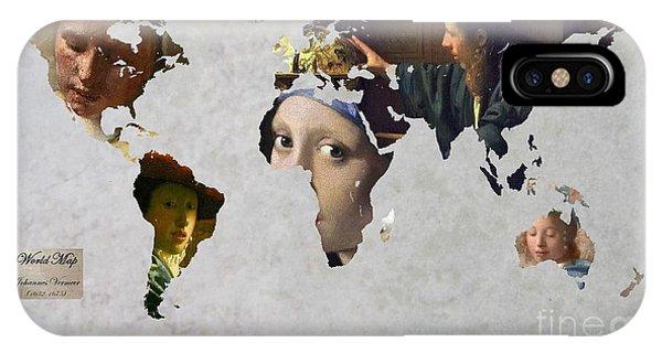 Holland iPhone Case - World Map  Vermeer 1 by John Clark