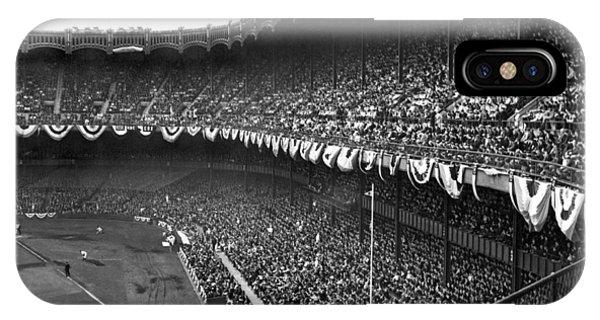 Yankee Stadium iPhone Case - World Series In New York by Underwood Archives