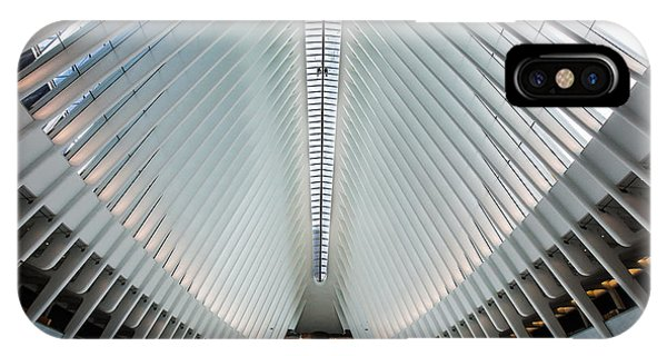 Ceiling iPhone Case - World Trade Center Station by Federico Cella