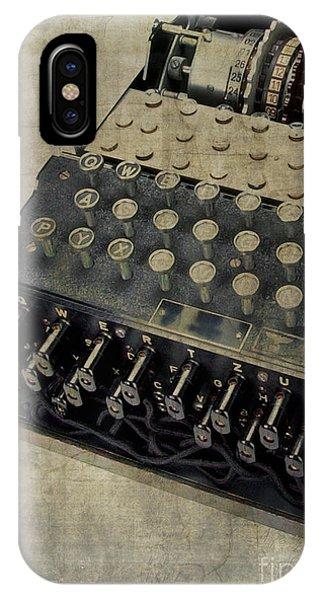 World War II Enigma Secret Code Machine IPhone Case