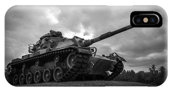 World War II Tank Black And White IPhone Case