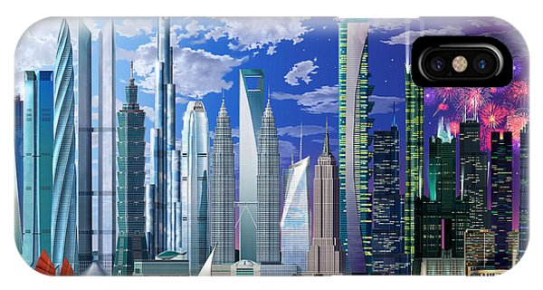 Worlds Tallest Buildings IPhone Case