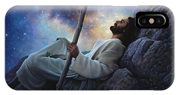 Staff iPhone Case - Worlds Without End by Greg Olsen