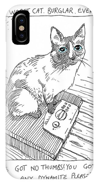 Worst Cat Burglar Ever IPhone Case