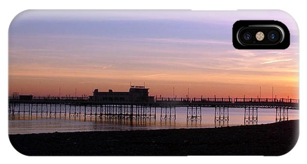 Worthing Pier Sunset Phone Case by Mark Bowden
