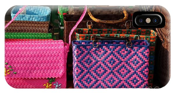 IPhone Case featuring the photograph Woven Handbags For Sale by Yali Shi