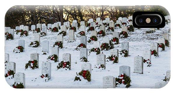 Wreaths At Arlington National Cemetery IPhone Case