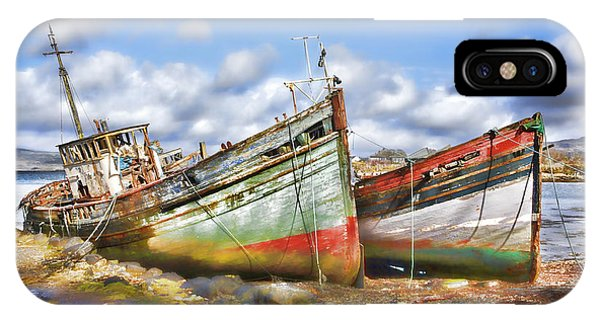 Wrecked Boats IPhone Case